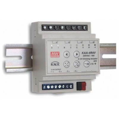 KNX ACTUATOR W DIMMING KAA-4R4V-10 *MEAN WELL